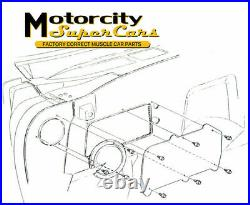 1960-81 GM Camaro Firebird Chevelle 442 GTO Firewall Heater Delete Plates Panel