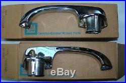 1963 1964 Chevrolet Corvette Buick Riviera NOS Door Handles Pair 9702886 9702887