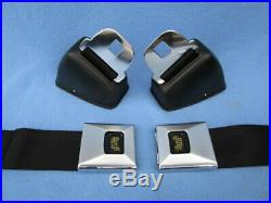 1966-67 Pontiac GTO, Chevelle, Olds 442, Nova Deluxe GM Carriage Logo Seat Belts