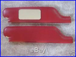 1966-70 impala SS convertible sun visors with vanity mirror red