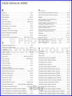 1966 Pontiac Sales Manual Dealer Album GTO Bonneville Grand Prix Catalina Etc