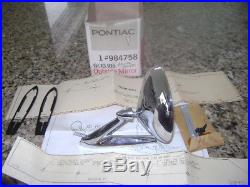 1967 1968 Pontiac Tempest/GTO Grand Prix NOS right side mirror kit 984758