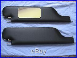 1970 chevelle SS sun visors with vanity mirror black perforated