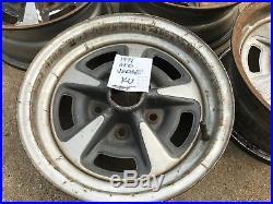 1971 GTO Judge Firebird Factory Original Rally Ralley II Rims Wheels 14x6 KU 4