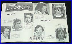 1971 Grand Prix of the United States Watkins Glen NY RACE PROGRAM 96 pages
