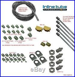 1973-1981 GM Cars 3/16 Brake Line Set Universal Kit STREET ROD Stainless SAE