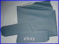 1973-77 monte carlo sun visors and headliner dark blue perforated