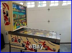 1976 Williams Grand Prix pinball machine 4 player electro mechanical AS IS EM