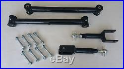 1978-1988 G Body Tubular Lower and Adjustable Upper Control Arms Hardware- BLACK