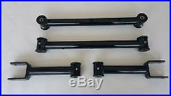 1978-1988 G Body Tubular Upper and Lower Control Arms with Poly Bushings (BLACK)