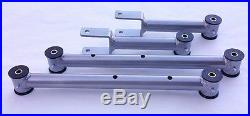 1978-1988 G Body Tubular Upper and Lower Control Arms with Poly Bushings SILVER