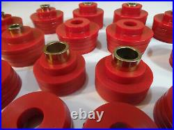 1978-88 G-Body Monte Reproduction Polyurethane Body Mount Bushings & Bolts Red