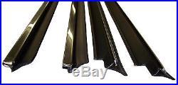 1981-1988 Pontiac Grand Prix window sweep seals, belt line molding with chrome