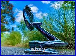 (2) NOS Vintage 1950's 1960's JOMA JOMET STRADDLER Fender & Body Mirrors