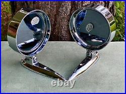 (2) NOS Vintage 1950's 1960's YANKEE PACESETTER Door Or Fender Mirrors