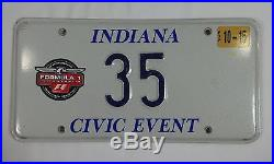 2003 Formula-1 United States Grand Prix Pace Car License Plate
