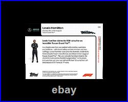 2020 Topps Now F1 #3 Lewis Hamilton Dramatic Win At Inaugural Tuscon Grand Prix