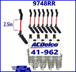 41-962 ACDelco 8x PLATINUM SPARK PLUGS 41962 19299585 x 8 And Wires x 8 For GM