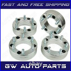 4PC WHEEL ADAPTERS 5X4.75 TO 6X5.5 2 THICK CB 74mm M12X1.5