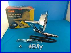 50s 60's NOS Yankee Side Mirror In Box Gasket Screws Vintage Unused Original
