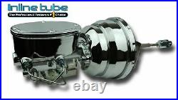 55-57 Chevrolet Chrome Power Disc Brake Conversion 8 Dual Booster Valve Master