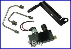 55-72 Chevrolet BLACK Power Disc Brake Conversion 8 Dual Booster Valve Master
