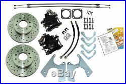 64-74 AFX-body Front Rear Power Booster Disc Brake Conversion Cross Drill Rotors