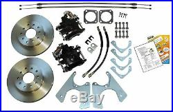 64-74 AFX-body Front & Rear Power Delco Booster Disc Brake Conversion Wheel Kits