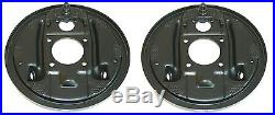 64-74 GM Rear Axle Drum Brake Factory Backing Plates SS W30 Judge Plate Pair NOS