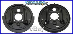 64-74 GM Rear Axle Drum Brake Factory Backing Plates W Shield Plate Pair NOS