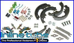 64-74 GM Rear Axle Drum Brake Full Rebuild Kit, Springs Shoes Levers Adjusters