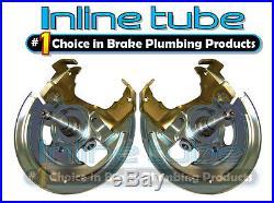 64-74 Mini Disc Brake Conversion Kit Spindles Caliper Brackets Backing Plates