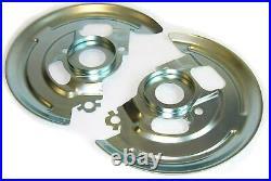 64-74 Single Pist Caliper Disc Brake Spindle Bracket Backing Plates Dust Shields