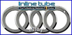 64-81 GM Chrome 14x6/7x2 Deep Wheel Rim Trim Beauty Rings Set of 4 GTO FIREBIRD