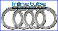 64-81 GM Chrome 15x7/8 2 7/8 Deep Wheel Rim Trim Beauty Rings Set of 4 Chevy