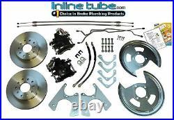 64-81 all GM 10 12 Bolt Rear Axle End Disc Brake Conversion Backing Plates Set