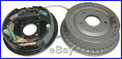 64-85 GM 9.5 Rear Axle Drum Brake Complete Assemblies with Cables Shoes Set Kit