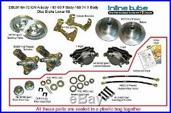 68-69 A-body Front Power Disc Brake Conversion Wheel Kit Caliper Rotor Factory A
