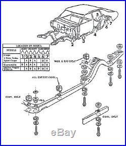 68-70 Chevelle SS LS6 Convertible Factory Body Mounts Bushings Cushions & Bolts