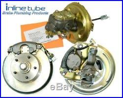 68-72 GM A-body Front Disc Brake Conversion Wheel Kit Set Caliper Rotor Brackets