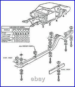 71-72 Chevelle SS LS6 Convertible Factory Correct Body Mounts Bushings Cushions