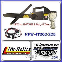 73-77 GM A Body 2 Door Regulator & Motor Power Window Kit with2 Illuminated Switch
