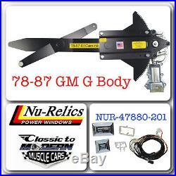 78-88 G Body Regulator & Motor Power Window Kit with 2 Chrome Switches GM Style