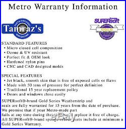 78-88 G Body T-Top TTop to Body Weatherstrip Seals Factory Option Metro TP5020