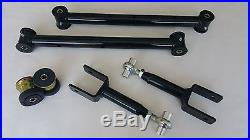 78-88 G Body Tubular Lower Adjustable Upper Control Arms Housing Bushings BLACK