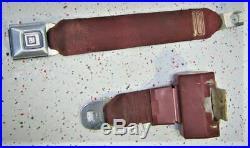 78 88 Monte Carlo Cutlass Regal Malibu El Camino Rear Seat Belt Set SS 84 87 86