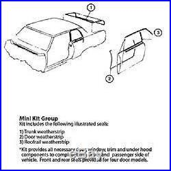 78-88 Monte Carlo Ss Regal Cutlass G-body 5 Pc Soffseal Weatherstripping Kit