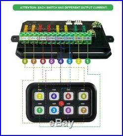 8 Gang Switch Panel Controls LED Breaker For Peterbilt Kenworth W900 T800 T400
