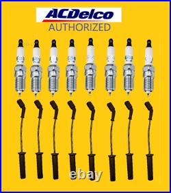 ACDelco 41962 8x platinum spark plugs, oem wires 9748hh, 19299585 PRE-GAPPED