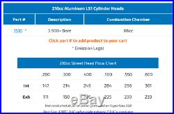 AFR 1510 LS1 210cc Mongoose CNC Ported Cylinder Heads LS2 LS6 LSX Small Bore 66c